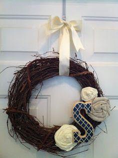 Monogrammed wreath!
