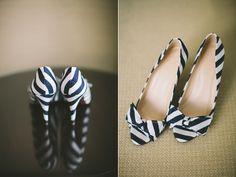 Nautical Striped Kansas Wedding