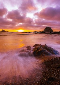 Rialto Beach sunset, Olympic National Park, Washington