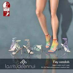 lassitude & ennui Fey sandals by jackalennui, via Flickr