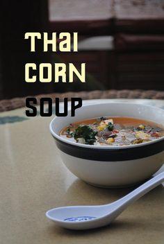 thai corn kale soup. Low fat. Low Carb. Vegan