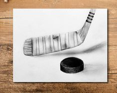 Sport Art Projects For Kids Man Cave 30 Super Ideas Cool Drawings, Pencil Drawings, Sports Drawings, Charcoal Drawings, Hockey Drawing, Hockey Decor, Hockey Room, Hockey Gifts, Pencil Drawing Tutorials