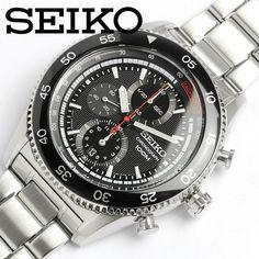 SEIKO Chronograph Motor Sport Herren Uhr SNDG57P1 Black Dial 100m  #seiko #wristwatch #chronograph #quartz #sndg #menswatch