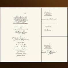 train boarding pass wedding invitation - Google Search