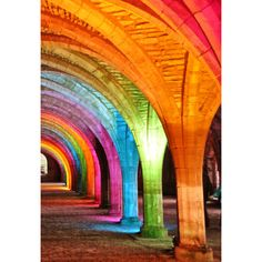 Rainbow arches. ❤ liked on Polyvore featuring backgrounds y pictures