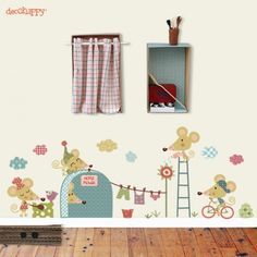 vinilo infantil ratoncito de decohappy 500x500 Nuevos vinilos infantiles de Decohappy Murals For Kids, House Wall, Decoration, Room Interior, Diy For Kids, Kids Bedroom, Room Inspiration, Wall Stickers, Baby Room