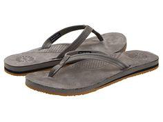 UGG Kayla Flip Flop leather charcoal, black .75h sz7 54.95 6/16