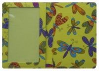 Yellow Butterfly Print Passport Cover