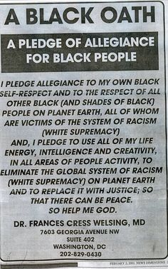 A Black Oath: A Pledge of Allegiance For Black People by Dr. Black History Facts, Black History Month, Black Power, We Are The World, In This World, By Any Means Necessary, Black Pride, African American History, Shades Of Black