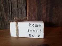 Home Sweet Home Wooden Books / Stamped Books / Tiered Tray Books / Book Stack / Tiered Tray Sign / Wood Block Books / Farmhouse Decor Rustic Wood Crafts, Wood Block Crafts, Diy Wood, Small Wood Projects, Scrap Wood Projects, Vinyl Projects, 4x4 Crafts, Wood Nursery, Nursery Layout