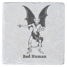 Bad Human Mocking devil Stone Coaster