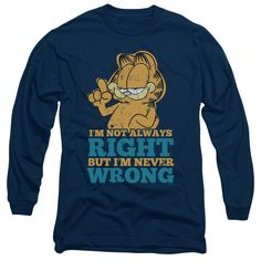 Garfield/Never Wrong-Navy