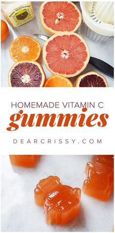 Homemade Vitamin C Gummies - Give your immune system a boost with these delicious and easy to make DIY gummies! Perfect for kids and adults who love citrus. #vitaminB #F4F #followback
