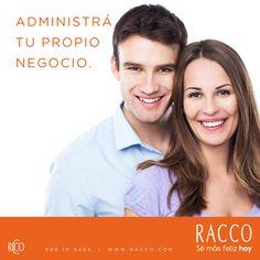 ¡ADMINISTRÁ TU PROPIO NEGOCIO! Divertido, simple, rentable y con beneficios únicos. #SéConsultoraRacco ¿Aún no eres parte de #RACCO? Completa el formulario on-line. Haz clic aquí: http://bit.ly/QQidjG o llama al 800-10-6464.