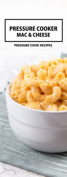 Pressure Cooker Mac and Cheese Recipe: Make this kid-friendly one pot meal in 35 mins! via @pressurecookrec