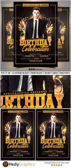 Birthday Flyer Template PSD