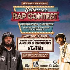 2nite 1/19 - Rap Contest ft Aplus(Souls of Mischief/Hiero),Knobody,DLabrie & more