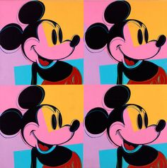 Andy Warhol, Quadrant Mickey Mouse/Myths (1981).