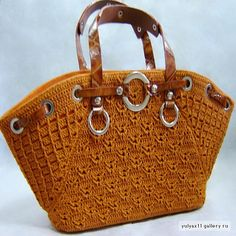 Beautiful crocheted handbag: fully charted