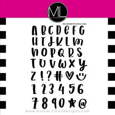 Mommy Lhey BRUSH MY ALPHA Clear Stamp Set MLD87 zoom image