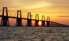 Rafael Urdaneta, Wind Turbine, Bridge, Lakes, Bulbs, Bridges, Silhouettes, Earth, Venezuela