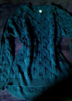 Suéter de Tricô Azul Marinho.