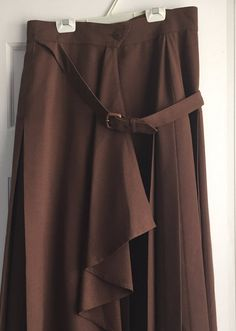 Vintage ESCADA Long Brown Skirt by CongenialVintage on Etsy