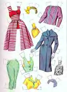 1960 Tuesday Weld paper doll clothes / eBay