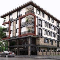 Tarik Alaskari Technical Drawing Modeling Design at Kartal Pear # 283550 Condo Design, Villa Design, Facade Design, Modern House Design, Exterior Design, Apartment Design, Hotel Design Architecture, Facade Architecture, Residential Architecture