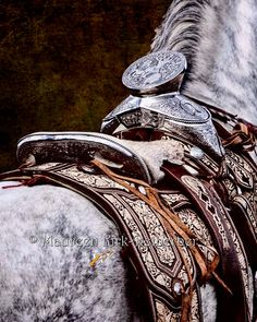 Mexican Silver Saddle horse equine fine art by FastWinn on Etsy