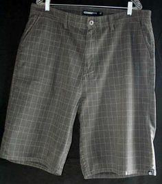 Split Size 38 Mens Dark Plaid Shorts | eBay