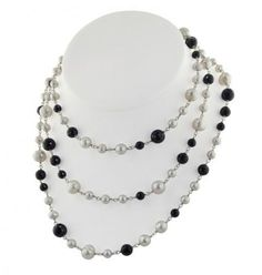 Sterling Silver Pearl and Onyx