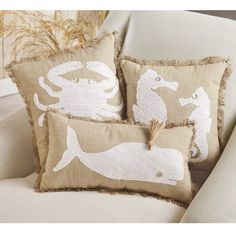 Features:  -Pillow cover is not removable.  -Spot clean only.  Product Type…