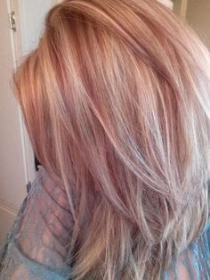 """27 Rose Gold Hair Color Ideas That Make You Say """"Wow!"""" 27 Rose Gold Hair Color Ideas That Make You Say """"Wow!"""", Rose Gold Hair Color Gold Pink Hair Colors Fashion for certain colors and shades can walk in a… Continue Reading → Gold Hair Colors, Hair Color Pink, Cool Hair Color, Hair Colours, Blonde Color, Blond Rose, Red To Blonde Hair, Blonde Hair With Pink Highlights, Rose Gold Short Hair"""
