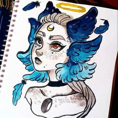 Drawing Doodles Ideas Inktober is hard i just don't have ideas Copic Drawings, Cartoon Drawings, Cartoon Art, Cute Drawings, Art Sketches, Sketch Drawing, Copic Sketch, Doodle Sketch, Watercolor Sketch