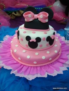 Decoración de tartas de Minnie Mouse bebé - Imagui