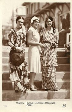 Miss Russia, Miss Austria and Miss Holland - 1930