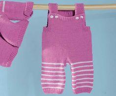 Описание вязания на спицах розового комбинезона из журнала «Сабрина Baby» №2/2015