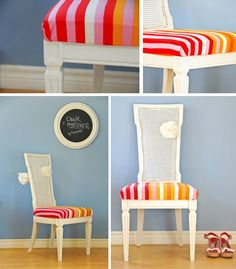 Diy Dining Chair Slipcovers : Diy Cane Chair Makeover