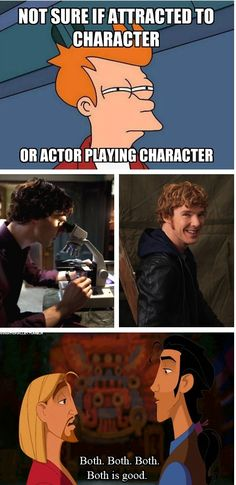 #Sherlock or #BenedictCumberbatch. Screw it, I choose both. Omg and I love that movie in the last frame! The Road to El Dorado!