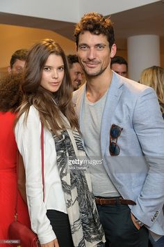 Sarah Ann Macklin and <a gi-track='captionPersonalityLinkClicked' href=/galleries/search?phrase=David+Gandy&family=editorial&specificpeople=4377663 ng-click='$event.stopPropagation()'>David Gandy</a> attend the 5th anniversary of Orlebar Brown at B&B Italia on May 30, 2012 in London, England.