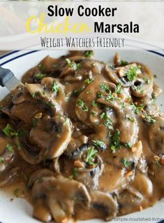 Crock Pot Chicken Marsala Recipe