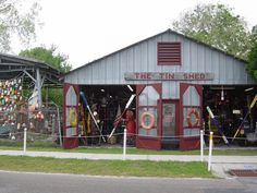 The Tin Shed, Appalachicola, FL. A cool place, we picked up a lantern off a old ship! -2012
