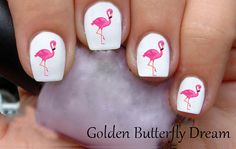 1170 Flamingo Slide Nail Art Decals Enough by GoldenButterflyDream