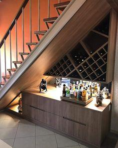 Basement Waterproofing Tips - Attic Basement Ideas Cabinet Under Stairs, Under Stairs Nook, Staircase Storage, Staircase Makeover, Under Stairs Wine Cellar, Wine Cellar Basement, Home Bar Rooms, Kitchen Cupboard Designs, Home Wine Cellars