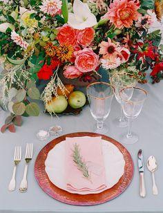 Marsala-inspired autumn tablescape