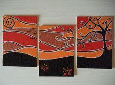 Quadri in sabbia colorata