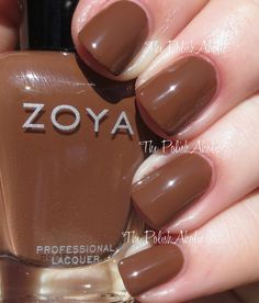 Zoya Fall 2014 Entice Collection Nyssa is milk chocolate brown creme.