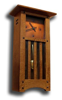 Mission Wall Clocks - There are a variety of ways you could customize wall clocks to suit your personal taste and here ar Craftsman Clocks, Craftsman Interior, Craftsman Furniture, Shaker Furniture, Craftsman Style, Craftsman Homes, Bedroom Furniture, Arts And Crafts Furniture, Arts And Crafts House
