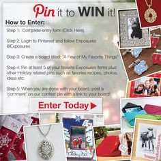 Enter our Holiday Pinterest #Contest and WIN 3 of your favorite Exposures items!